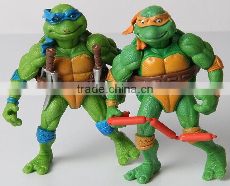 ninja turtles plastic figurines;japanese anime plastic ninja turtles figurines,lovely cartoon mini figure