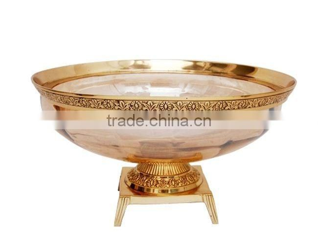 brass antique glass mosaic candle holder for wedding