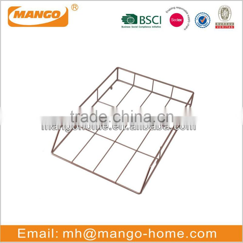 Simple design metal iron wire mesh file tray