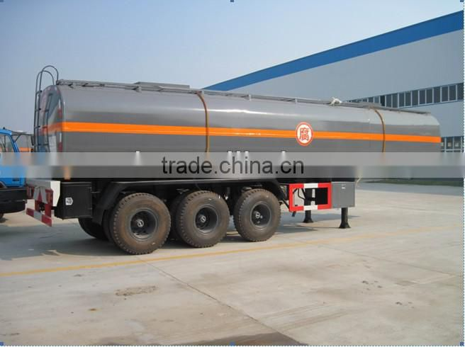 dongfeng chemical liquid half hang trailer