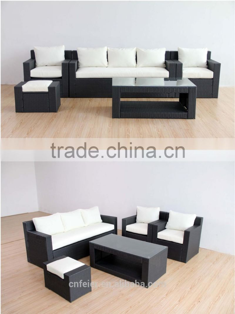 rattan designer living room furniture sofa set