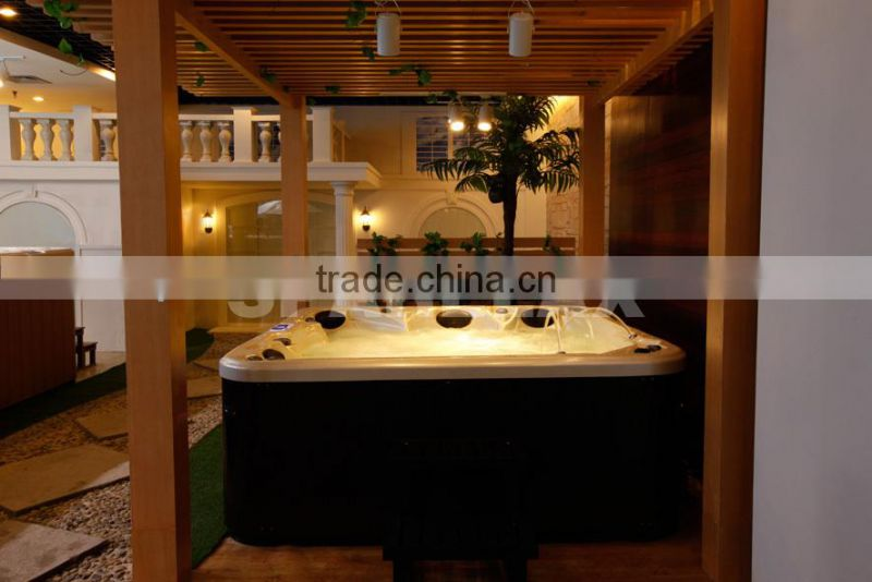 Factory supply royal jazzy function outdoor spa with overflow ----(S601)