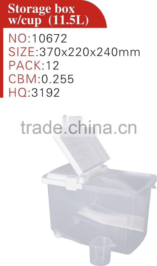 plastic home storage box, rice box, rice storage bin