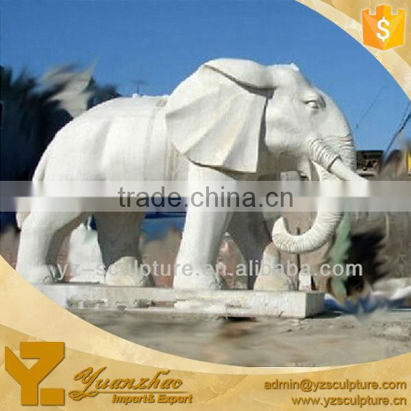 outdoor stone carving marble elephant statue for sale