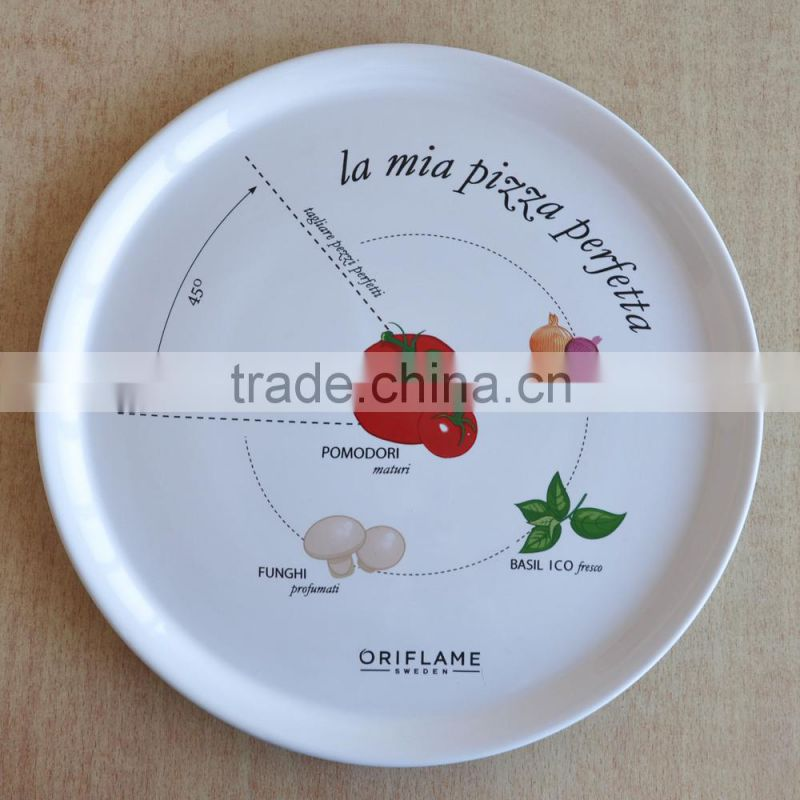 "14""White Dinner Plate, Square Stoneware plate"