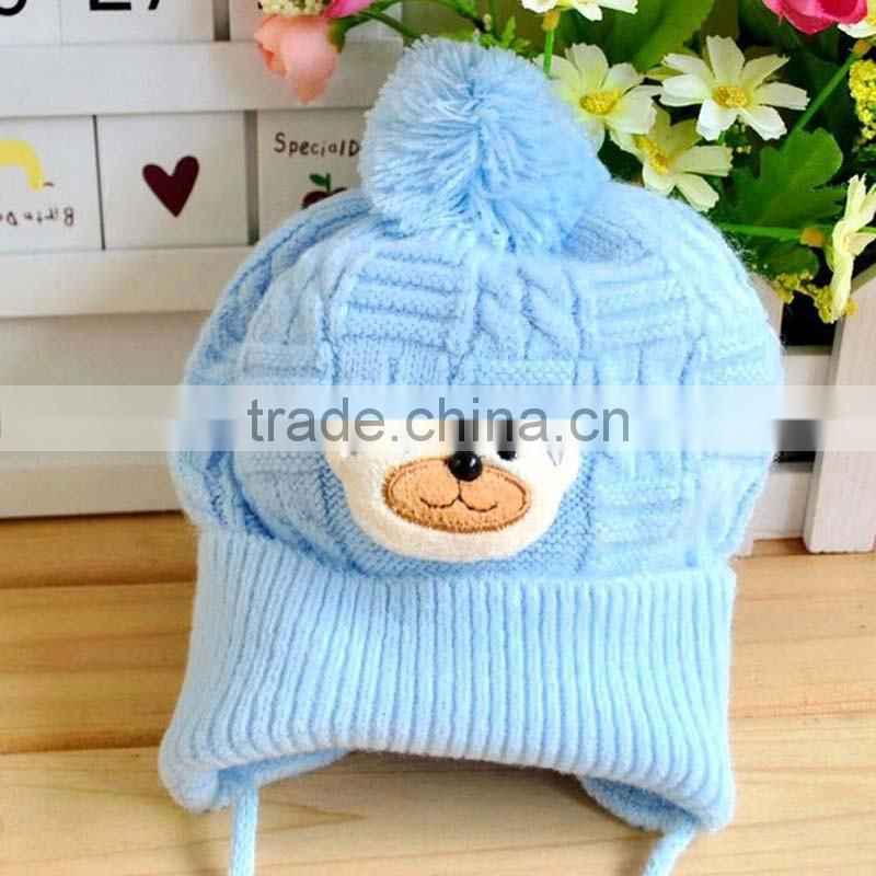 Baby hat Boy Girl Infant Toddler Cute Soft Crochet Bear Hat Beanie Warm Newborn Cap