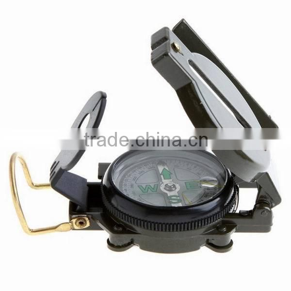 Mini Army Green Camping Military Compass