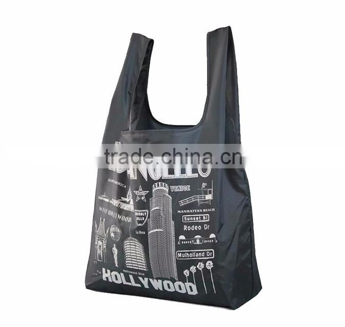hot sale rip-stop reusable foldable polyester shopping bag