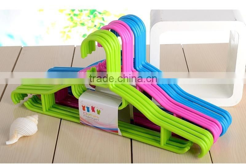 plastic colored garment hanger 5pcs/set