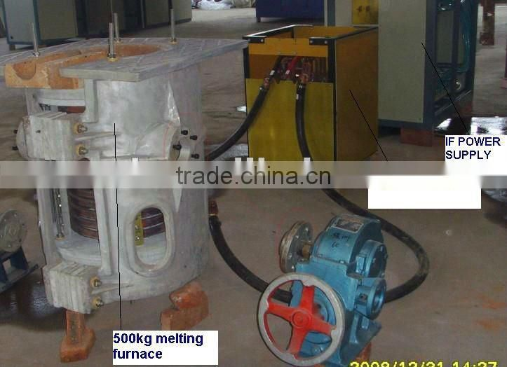100kg/500kg iron and copper induction melting furnace