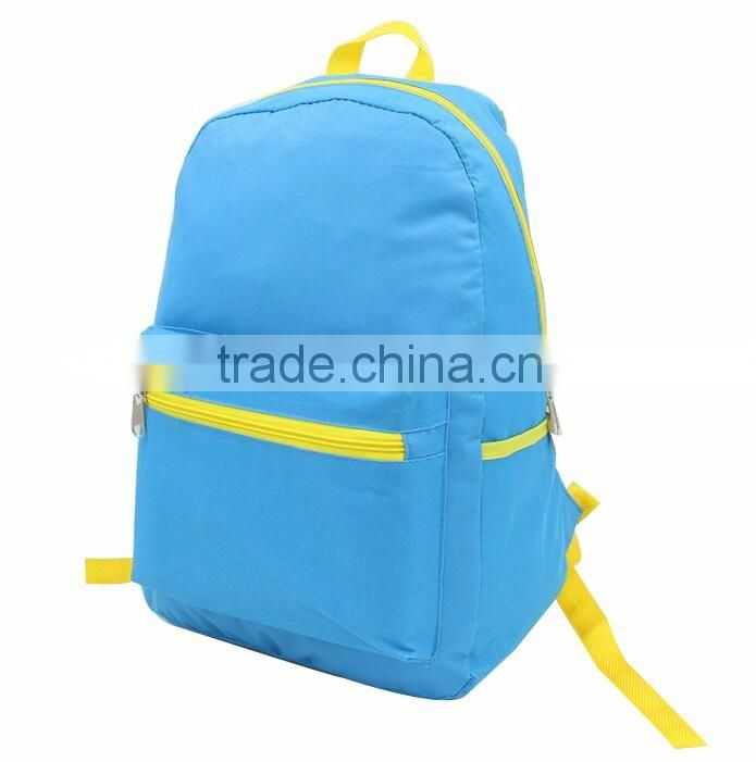 2016 new arrival customized durable blue teenage boys school bag