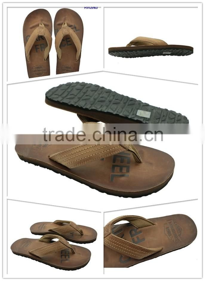 Good Quality Leather Men Summer Customized Sandals