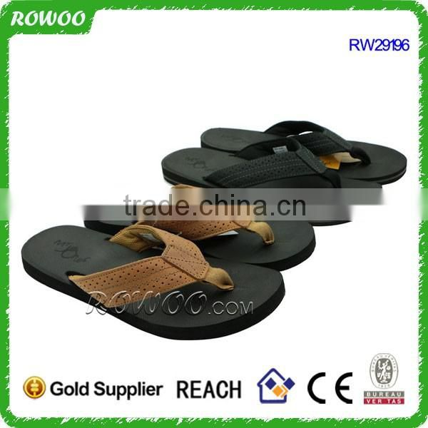 Black PU and Men Gender PU Sports Sandals Shoes