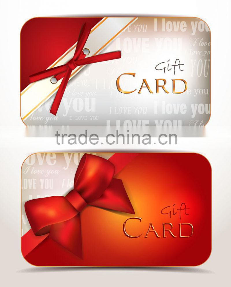 CHINA PIRNTED PLASTIC GIFT CARD