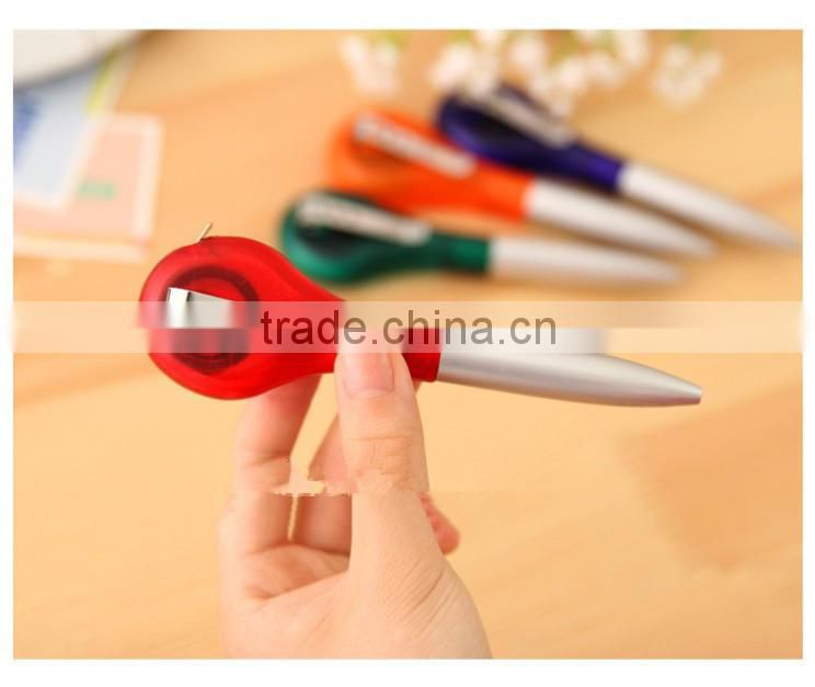 Promotional multiple use pen with ruler , Measuring tape ballpoint pen