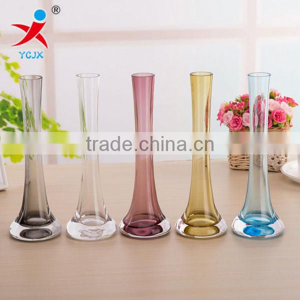 Color glass vase/hotel/European vase table crafts are special vase