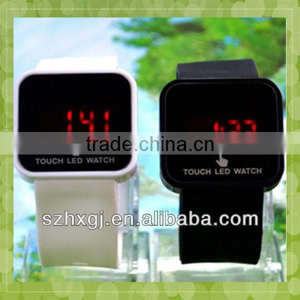 MA-12102013 New Arrival Hot Selling Factory Direct Sell Silicone led Touch Screen Watch For Men
