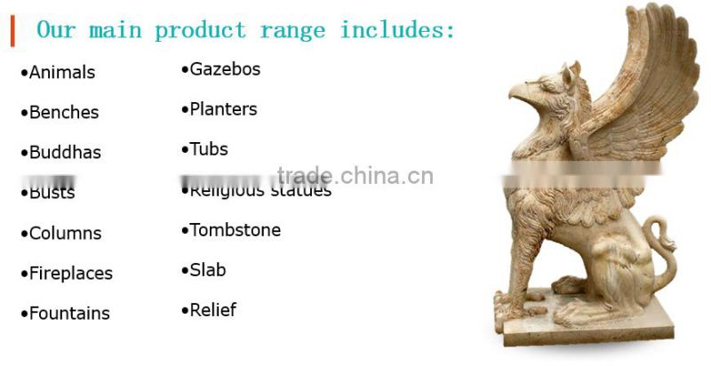 Stone carving beautiful beige garden decoration large gazebos NTGM-022Y