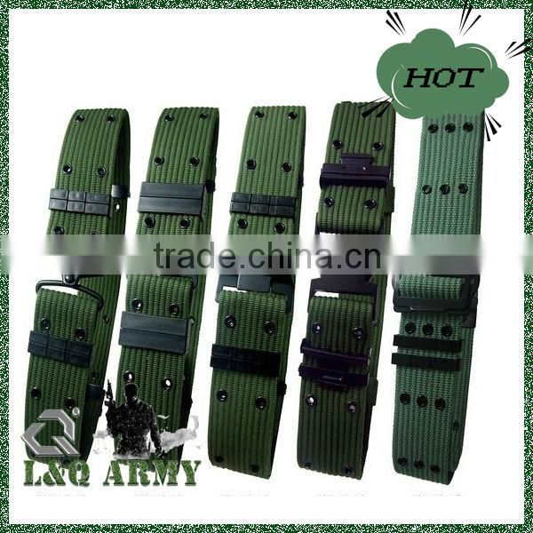 Army green tactical outdoor police security utility waist belt