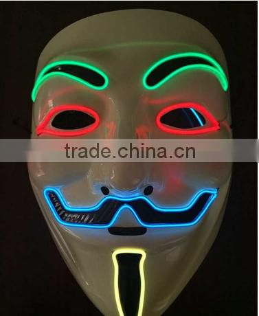 EL Mask / EL Wire Mask / fashion ligting up mask for party/ Halloween/christmas