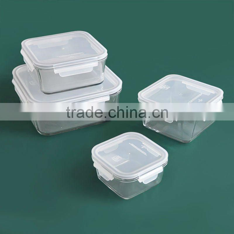 Pyrex Container with Airtight Lid, Oblong Box, 3100ml