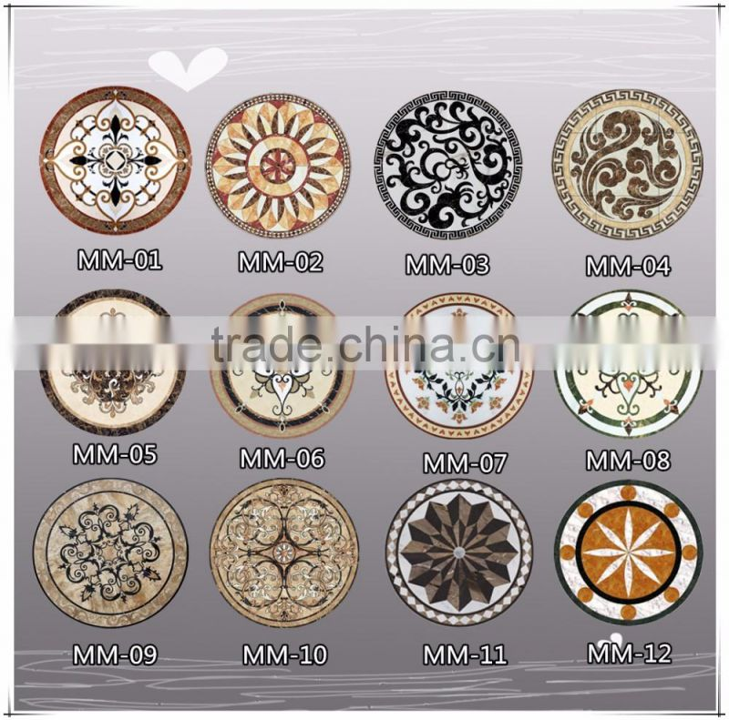 Norton modern new design marble mosaic patterns square marble medallion for sale NTMS-MM001L