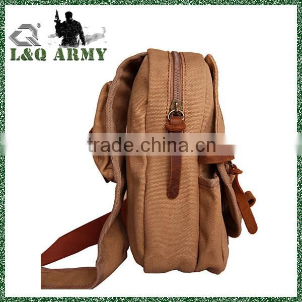 Men's Vintage Canvas Leather sling bag