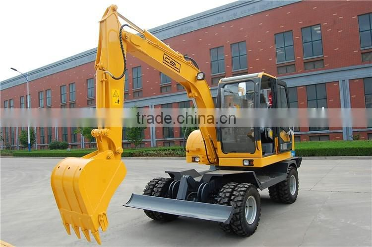 wheel excavator 7ton 8ton 10ton 12ton excavating equipment for sale