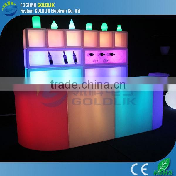 Cheap Bar Counter with colorful change