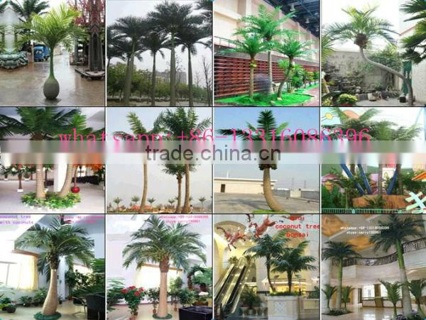 LXY072007 curved trunk new design artificial coconut tree decoration outdoor palm plants