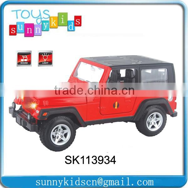 Wholesales 1:48 die cast toy china Alloy car with light and music