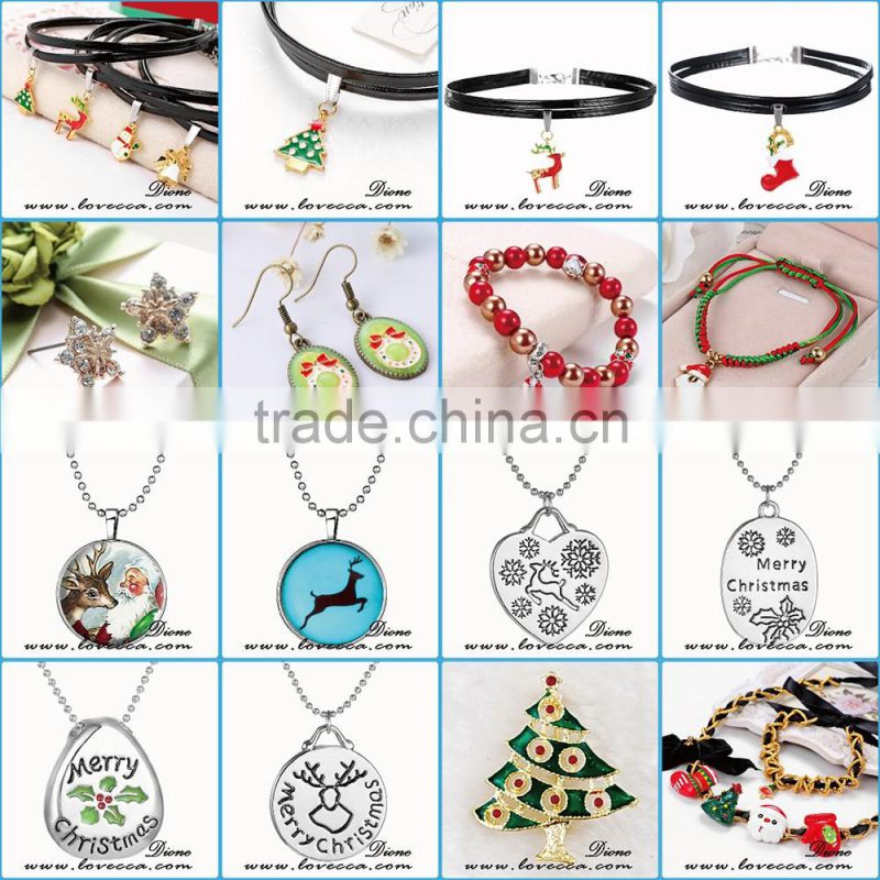New arrvival Merry Christmas charms necklace ,various designs christmas charms necklace
