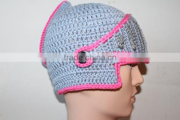 900 novelty new year gift ancient Rome style handmade knight knitting hat