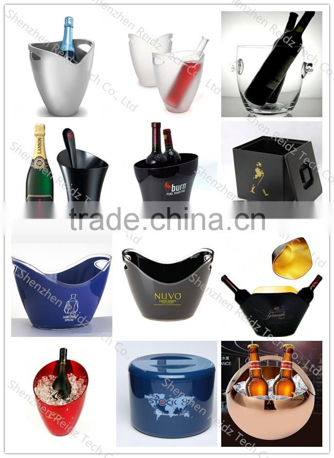 2016 new champagne led ice cooler buckets