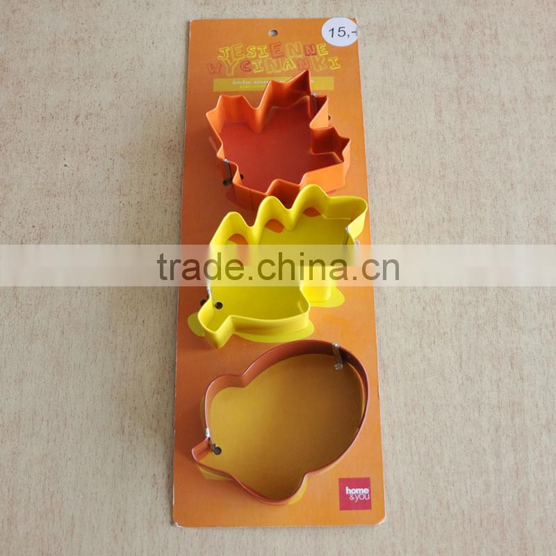 Halloween Stainless Steel Cookie Cutters, 3pcs Set Stainless Steel Cutter with Coating