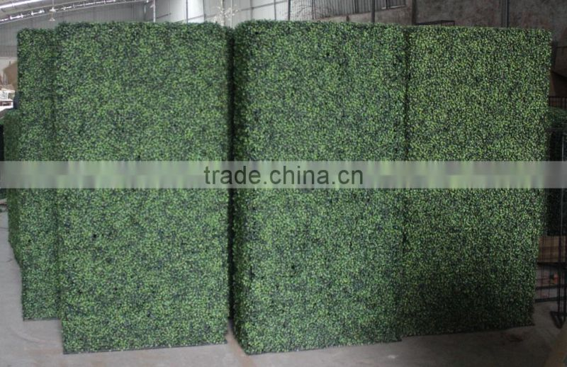 2017 hot sale ornamental plants artificial boxwood hedge hot sale artificial green wall