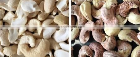 New software and design CCD belt type cashew nuts color sorter machine