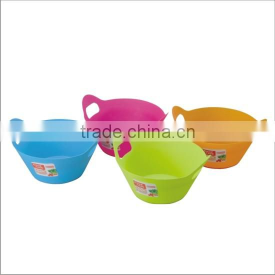 Hot sales customised color and packing take away plastic salad bowl with lid