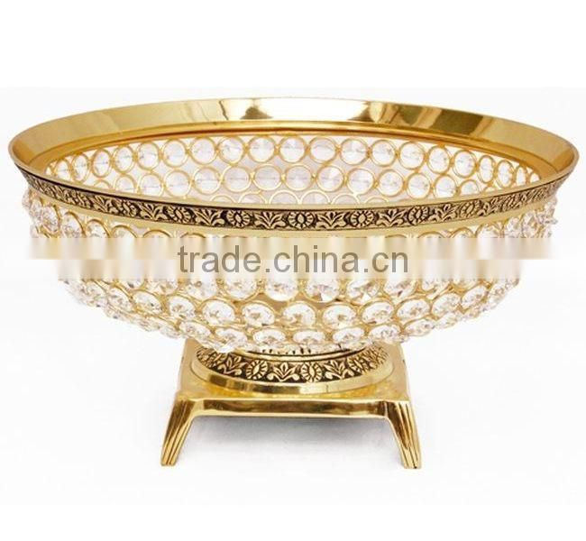 metal crystal brass home decor