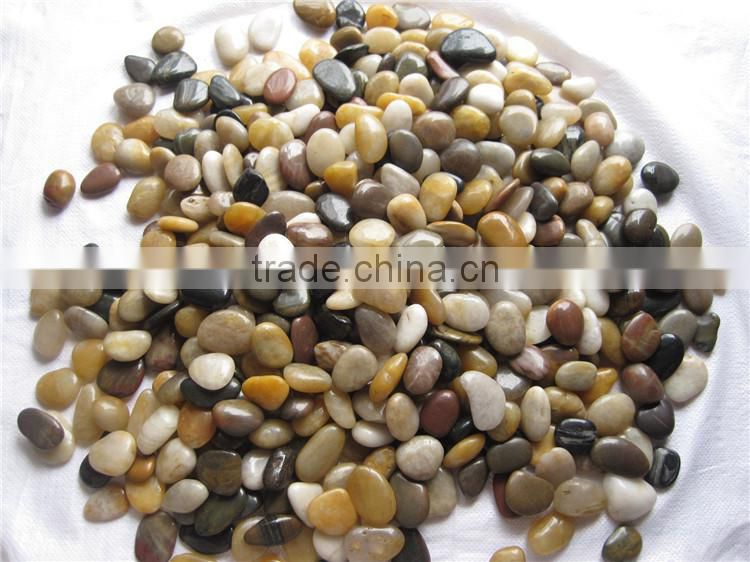 Coloured Pebble Stones For Walkway River Stone Pavers