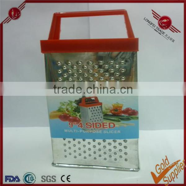 Colorful handle manual stainless steel vegetable grater