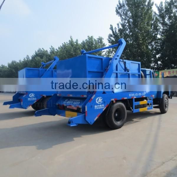 140hp DONGFENG 4*2 Swing Arm Garbage Truck 6 m3