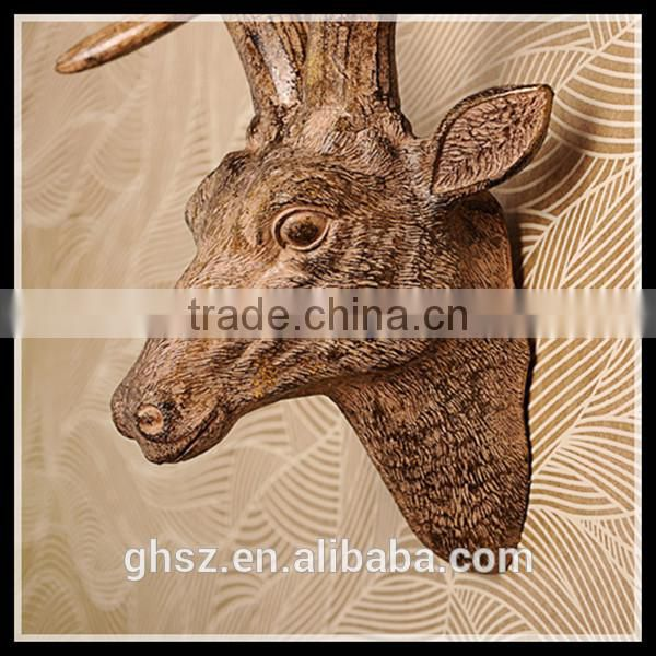 European style wall decoration resin wall-mounted deer head for sale