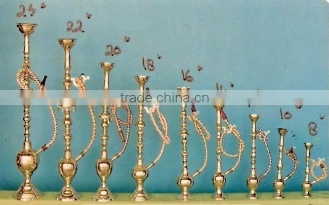4 pipe brass antique hookah for bar used