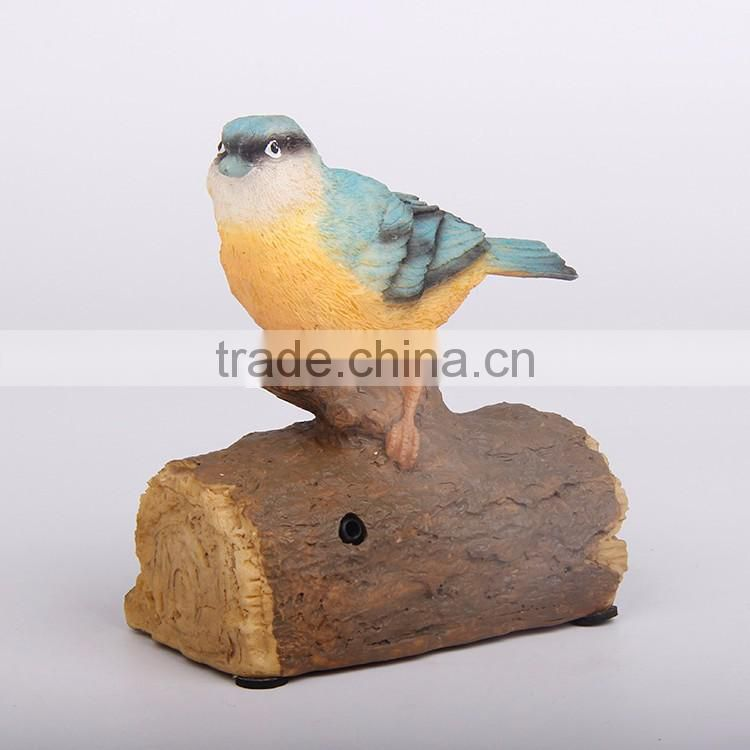 Custom folk craft home decor polystone bird figurine