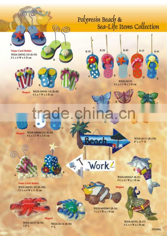 Hot wholesale polyresin cartoon fish magnets