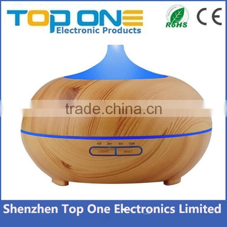 300ml Wholesale electric ultrasonic wood grain essential oil diffuser