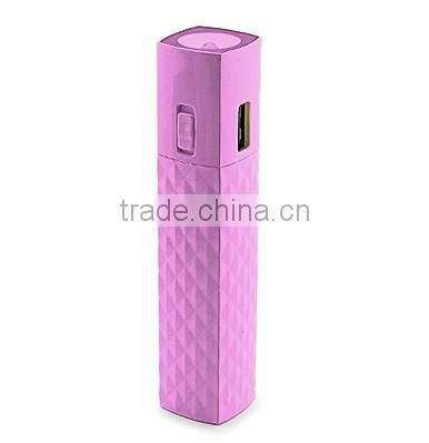 Best Gift Colorful Mascara Power Bank 2600mah With Torch 2600mah