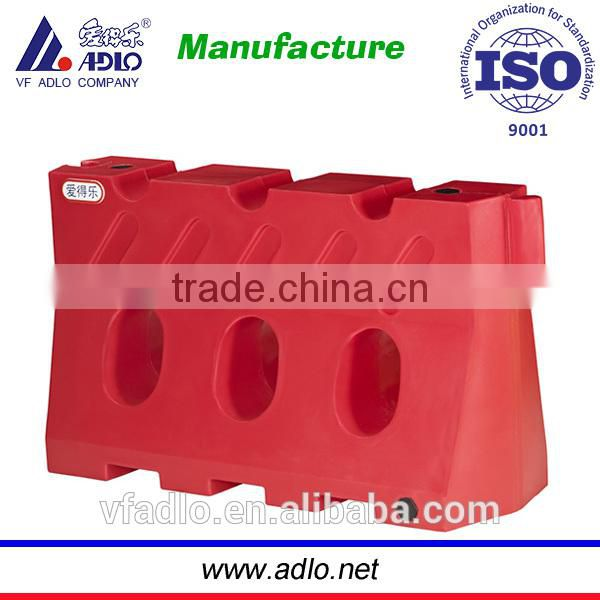 High quality LLDPE cheap red water fill crowd road barricade