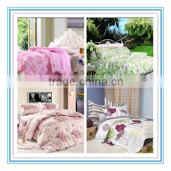 High demand products to sell cheap summer pink Printed Polyester Quilt